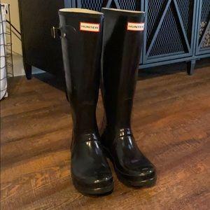 Black Tall Hunter Rain Boots